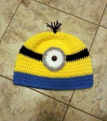 Minion Crochet Beanie Hat  ~ Dly's Hooks and Yarns ~