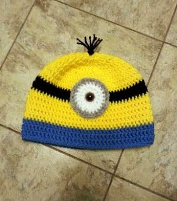 Minion Crochet Beanie Hat  ~ Dly's Hooks and Yarns ~