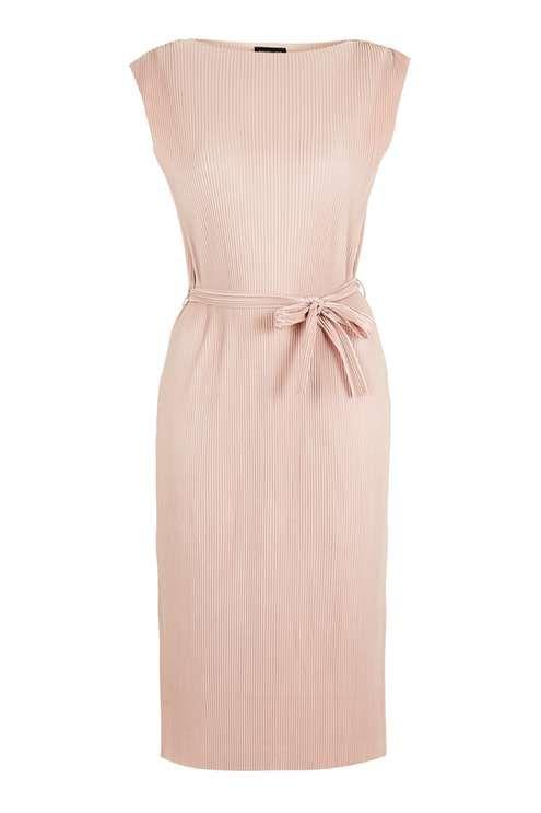 Plisse Tank Dress