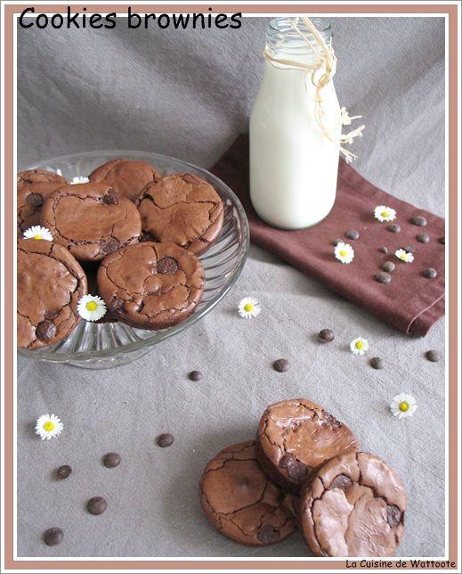 Lorsque je les ai vus , je savais qu'ils allaient venir chez moi un de ces quatres. Avoir le côté craquant du cookies et le moelleux du brownie riche et dense ça et hyper chocolaté ça c'est fait !!! Ingrédients 35 g de farine 2 cuillères à soupe de cacao...