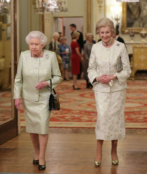 Princess Alexandra Photos Photos - Queen Elizabeth II and Princess Alexandra are seen during a reception to celebrate the patronages of the Princess, in the year of her 80th birthday at Buckingham Palace on November 29, 2016 in London, England. - Queen Elizabeth II Hosts a Reception for Princess Alexandra