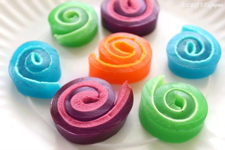 Marshmallow Jello Pinwheels - Raining Hot Coupons
