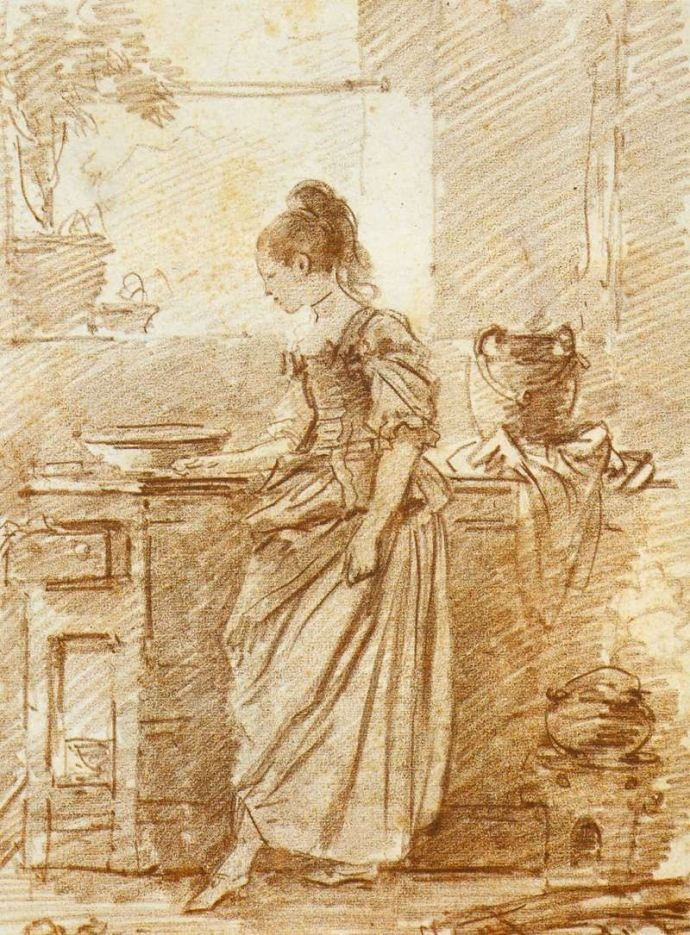 1775, The Party Cook by Fragonard