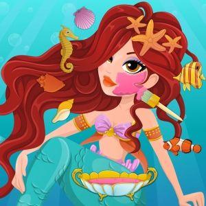 Mermaid Spa Day  http://www.enjoydressup.com/spa-games/mermaid-spa-day-8531.html