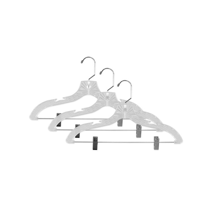 Sunbeam 3-pack Crystal Hanger & Clip, Other Clrs