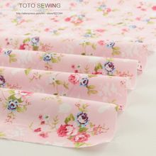 New pink printed floral patterns 50cmx160cm/piece cotton fabric quilting home textile factory direct fabric free shipping(China (Mainland))