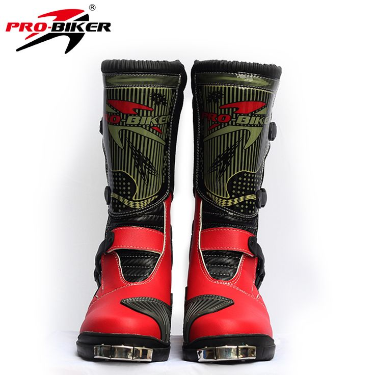 PRO-BIKER leather motorcycle motocross racing boots shoes Moto Motos cross off road dirt bike botas Chuteiras B1007