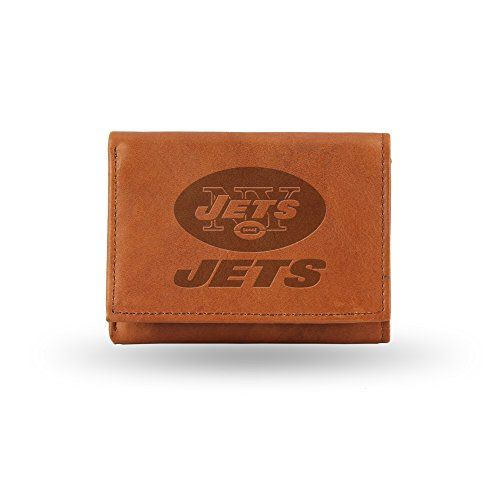 NFL New York Jets Embossed Genuine Cowhide Leather Trifold Leather Wallet