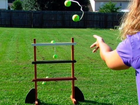 DIYNetwork.com has step-by-step instructions on how to make a ladder golf/ladder ball game.