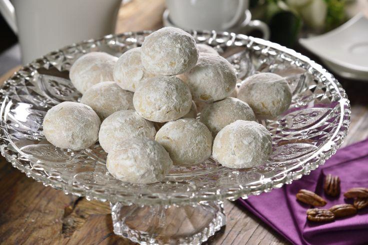 Galletas de nuez y azúcar glass para recibir las fiestas navideñas