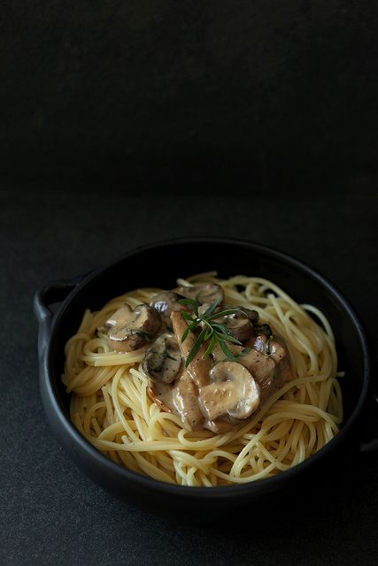 wild mushroom pasta with tarragon