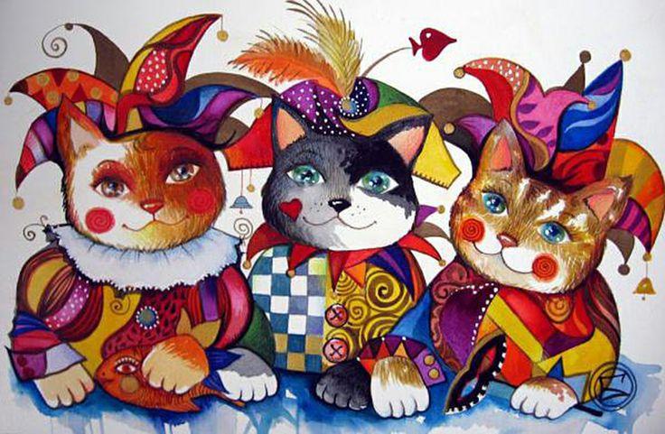"""Trois frères au carnaval"" par Oxana Zaika"