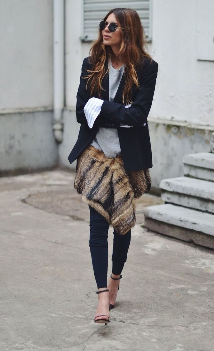 This is such creative way to bring a live a sharp Winter look. The fur adds another dimension to a trend I really should have trend already. Oh well, guess there is always 2017/18.