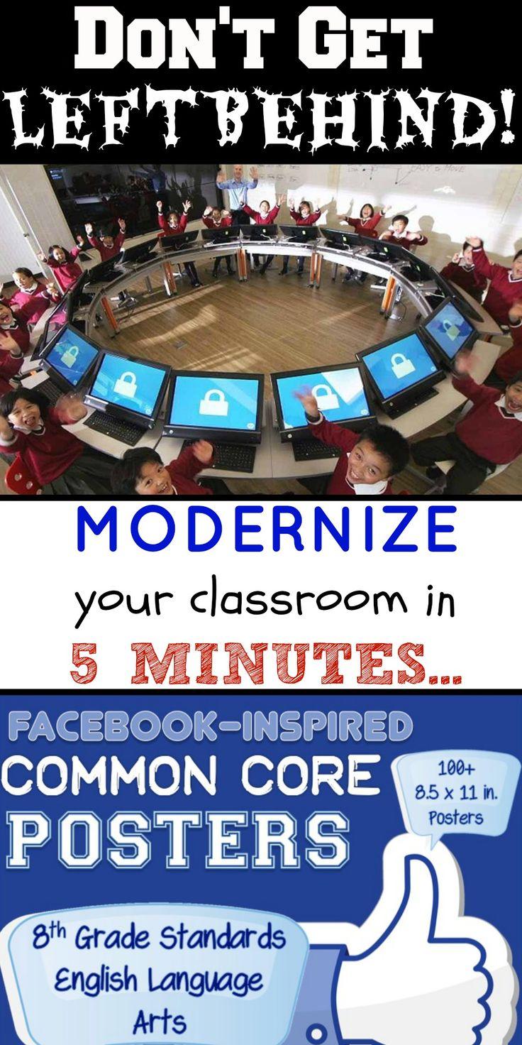 Facebook Inspired Common Core Posters – 8th Grade ELA – Unique