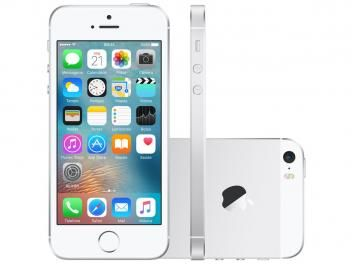 "iPhone SE Apple 16GB Prateado 4G Tela 4"" Retina - Câm. 12MP iOS 9 Proc. Chip A9 Touch ID"