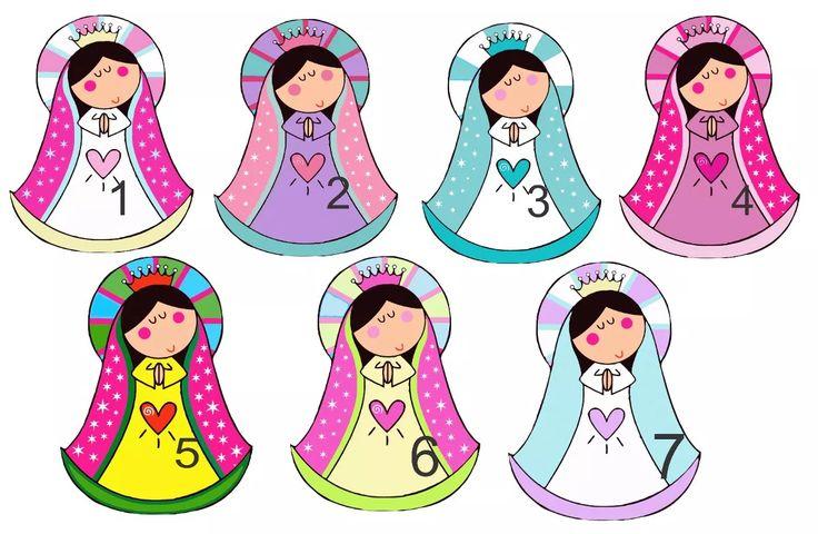 Estampitas Virgencita Porfis Con Forma X 30 - $ 420,00 en Mercado Libre