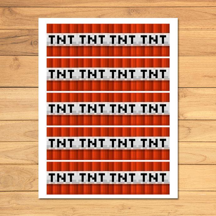 Minecraft TNT Label * Minecraft TNT Party Favor Printable * Minecraft Party