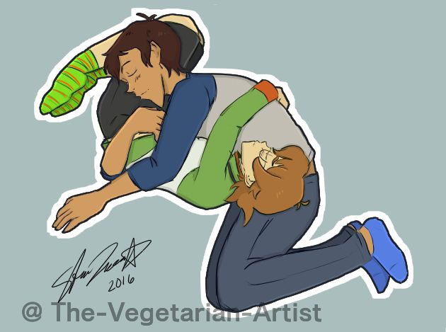Lance and Pidge sleeping together from Voltron Legendary Defender