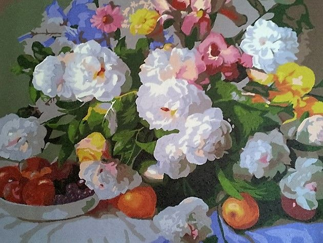 Paint by numbers (2) - I've never been great at doing only what I'm meant to so I 'embellished' it with some extra fruit