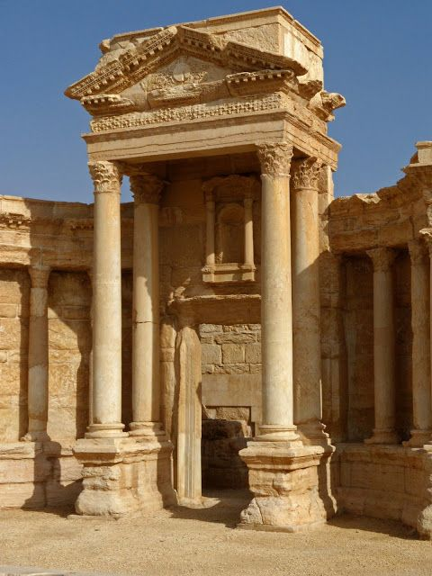 Palmyra, Roman Theatre with its nearly intact stage