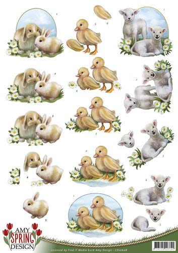 3D Knipvel - Amy Design - Spring - Animals