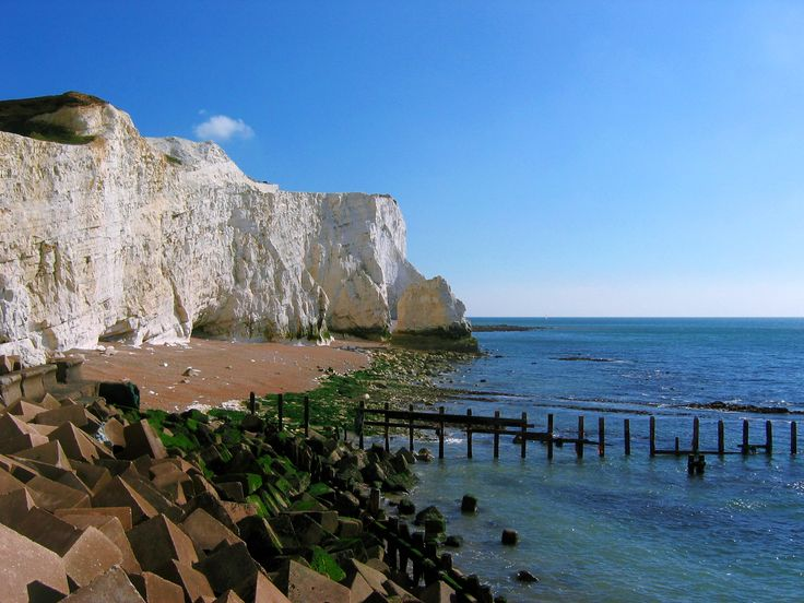 Seaford Head on the White Cliffs in East Sussex and south east England