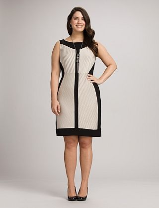 Two-Tone Colorblock Sheath Dress | Dressbarn