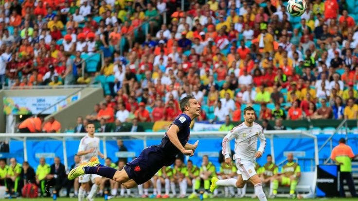 Our favourite goal of the #WorldCup2014 so far - the 'Flying Dutchman' Robin van Persie's epic header goal in Friday's Spain vs The Netherland's match!  Think he'd had some MANFLU Instant Energy before the match?