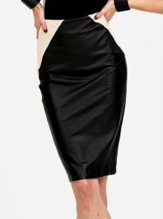 Blessed are the Meek minx 100% leather skirt with side panels $299.95 | shop at www.threadsandstyle.com.au