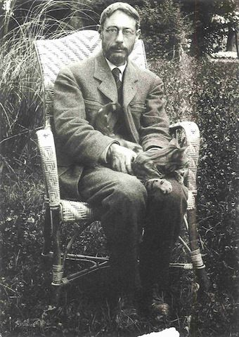 Pierre Bonnard and cat.
