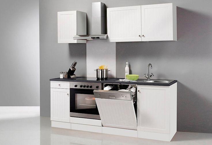 Küchenzeile ohne E-Geräte »Bornholm«, Breite 210 cm für 499,99€. Küchenzeile ohne E-Geräte, Profilierte MDF Fronten bei OTTO