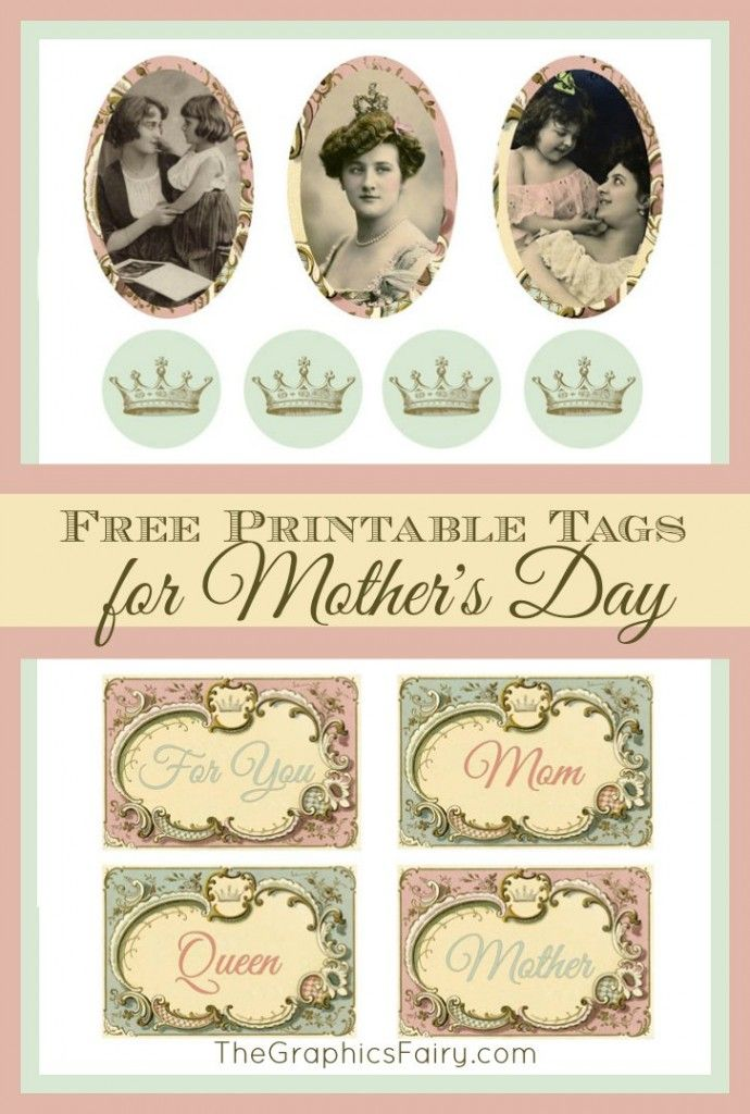 Mother's Day Gift Tags! By Emily for The Graphics Fairy