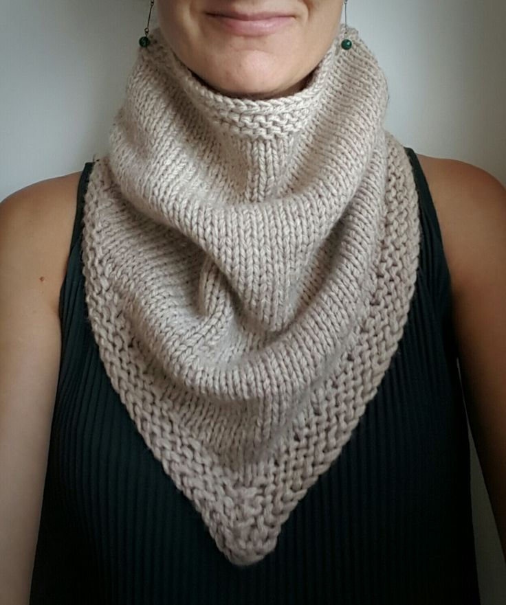 Short-rows cowl