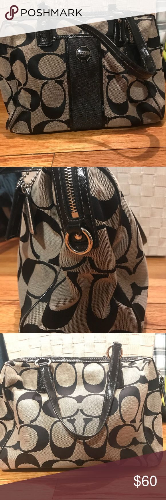 Coach purse Authentic black coach purse. Gently used. Great condition. Coach Bags Shoulder Bags
