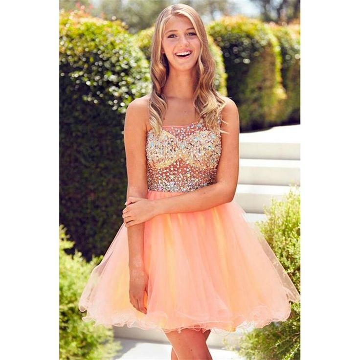 Short Coral Homecoming Dresses 2016 Ball Gown Sexy One Shoulder Shiny Beaded Sequins Top Cheap Short Prom Cocktail Dress Custom