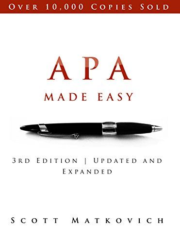 APA Made Easy: Revised and Updated for the APA 6th Edition                                                                                                                                                                                 More
