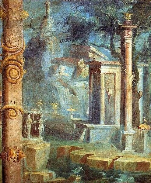 54 best ancient roman painting images on pinterest roman for Ancient roman mural