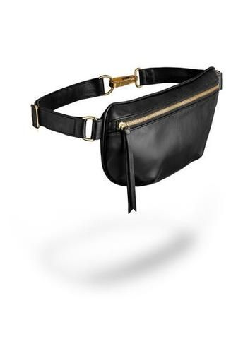 DescriptionAmes Tovern's stylish fanny pack feature d-rings to facilitate a comfortable curve around the body,an interior pocket for safe keeping, and an adjustable leather belt-like waist or cross body strap.Made in Los Angeles with...
