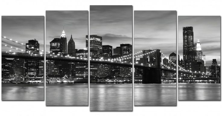 #Cuadro New York blanco y negro  http://www.cuadrosyespejosmodernos.com/producto/cuadro-new-york-151-200x100/