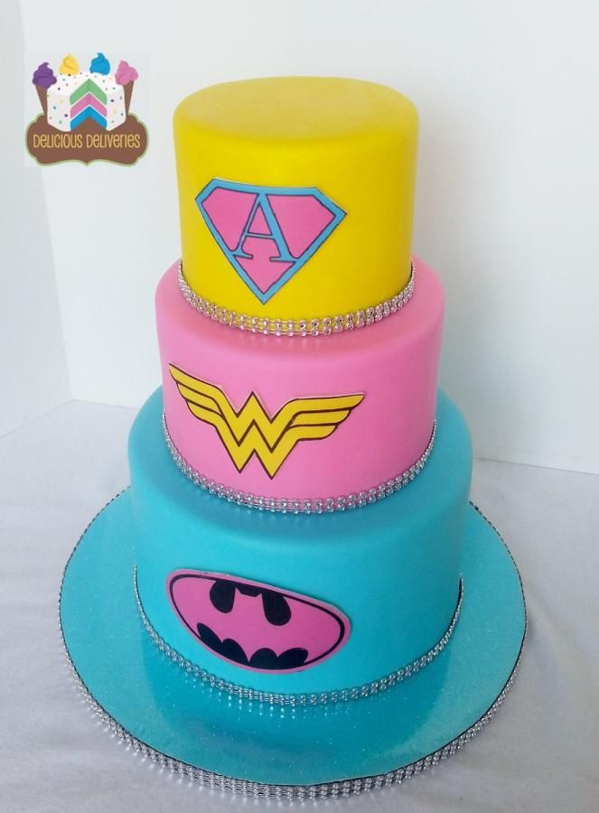 Girl Power! Superhero Cake - Cece wants this for her 5th birthday now and is making me pin this :)
