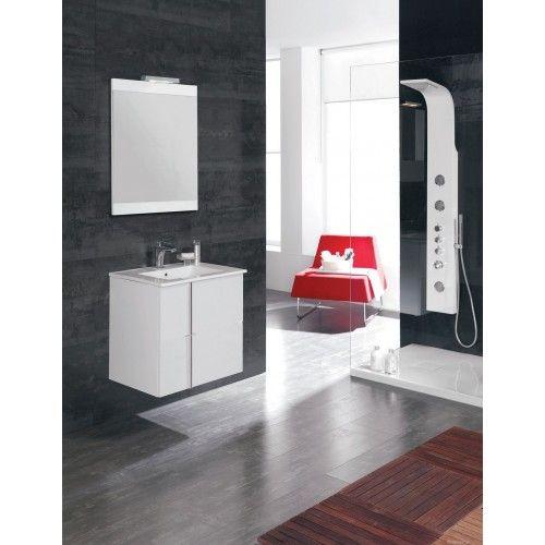 Bthroom vanity unit Avila 60cm 2 door White