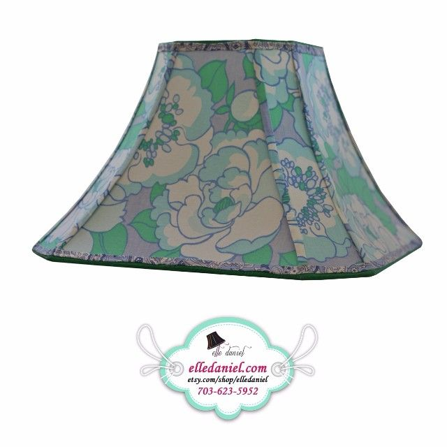 17 best custom lamp shades on etsy images on pinterest custom lamp floral green designer lampshade for sale order custom lamp shades 703 623 aloadofball Images