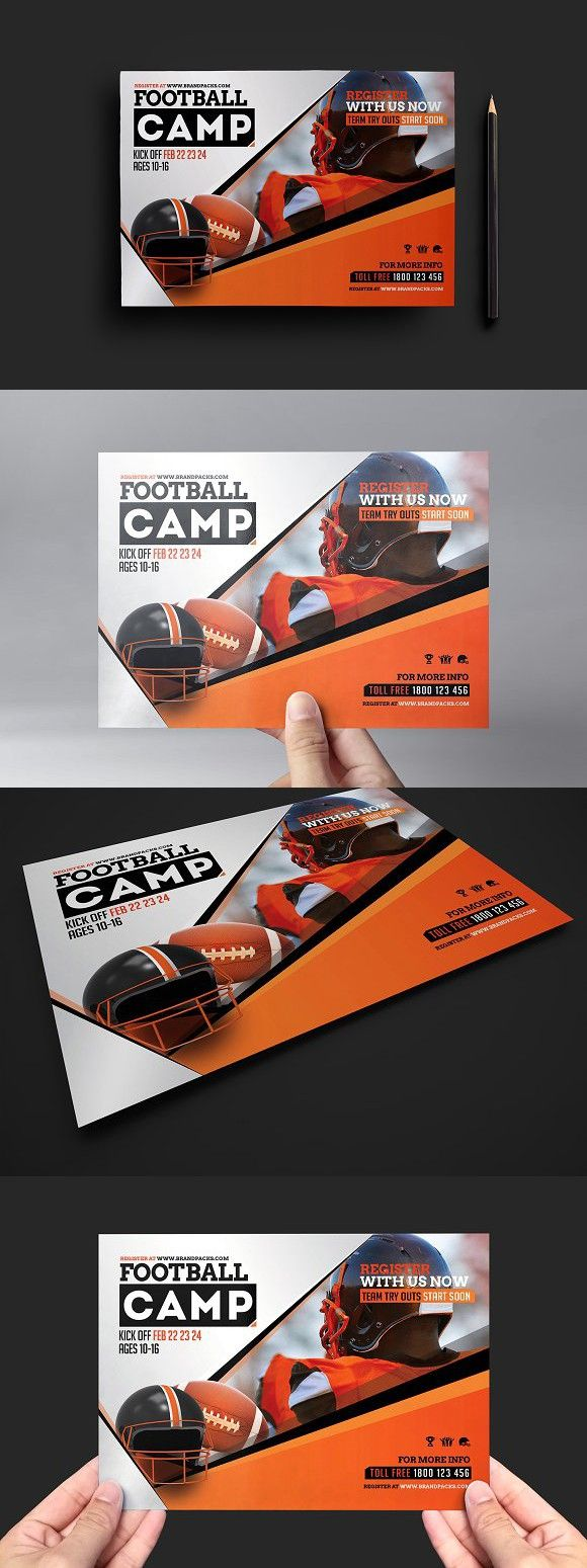 Football Camp Flyer Template. Flyer Templates