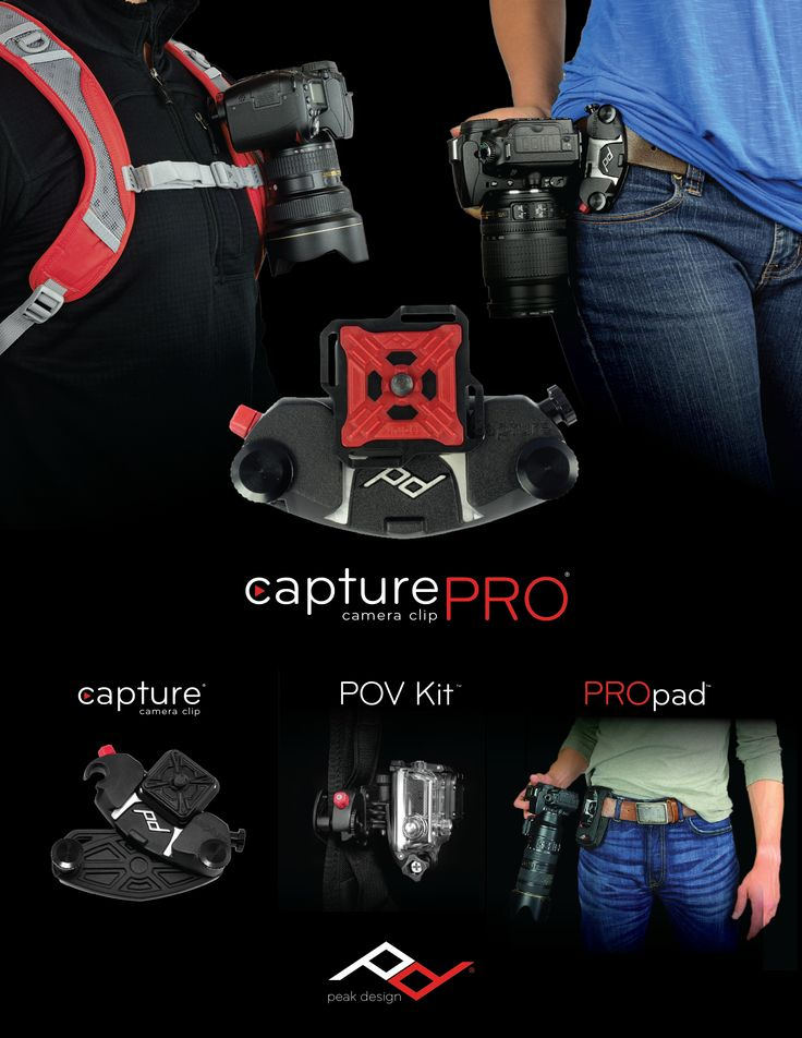 just ordered one of these Capture Camera Clips by Peak Design. Going to be perfect for easy camera access while hiking!