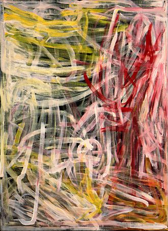 "Awelye (Body Paint), Emily Kngwarreye, 1995, Acrylic on Canvas, 48"" x 36 #EmilyKngwarreye at www.next-picasso.com"