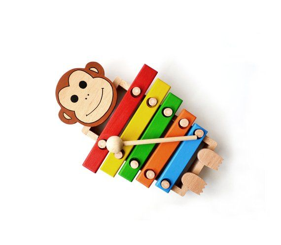Musical Toys, Wood Monkey Xylophone, Percussion Instrument for Kids, Montessori …