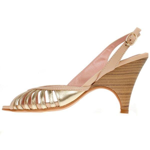 La Garconne Nadine Beige/Oro (gold)
