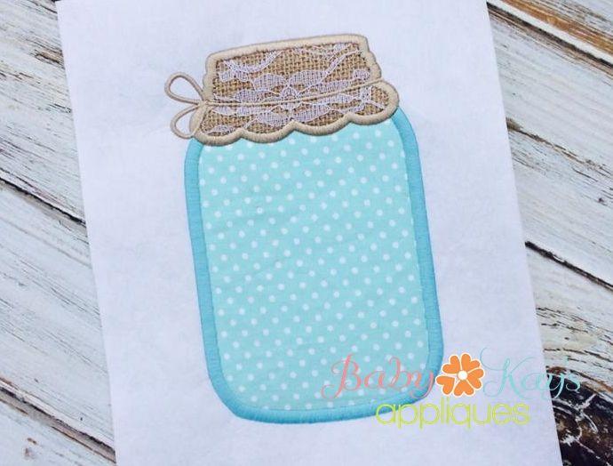 Baby Kay's Appliques - Mason Jar Applique 4x4, 5x7, 6x10, 8x8, $4.00 (http://www.babykaysappliques.com/mason-jar-applique-4x4-5x7-6x10-8x8/)