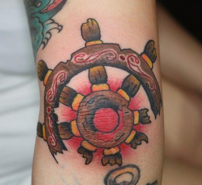 ships wheel elbow tattoo | Ink | Pinterest | Ship wheel ...