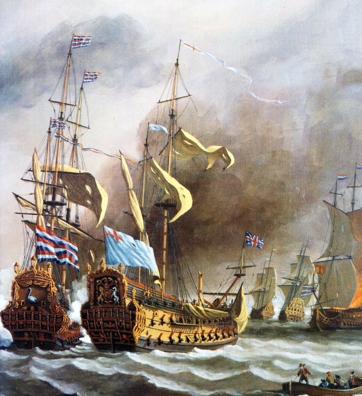 Four Days Battle between the British and the Dutch fleet